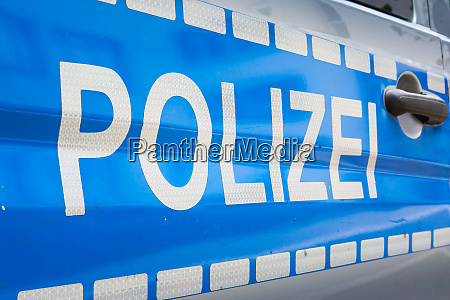german polizei car label badge police