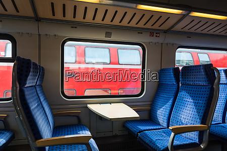modern train wagon interior seats rows