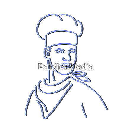 chef looking to side neon sign