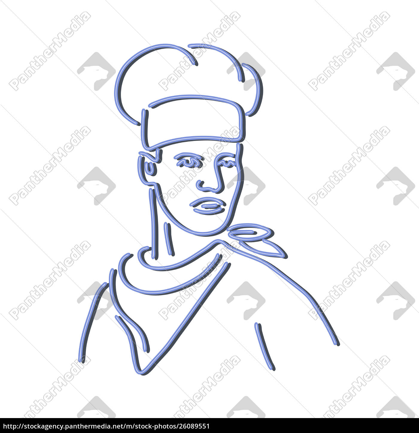 chef, looking, to, side, neon, sign - 26089551