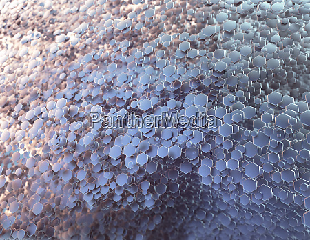 abstract polygonal metallic honeycomb