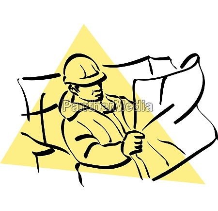 illustration of a construction worker to