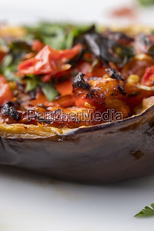 grilled stuffed aubergine a turkish dish