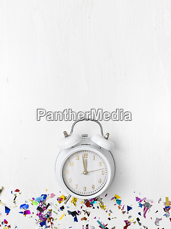 alarm clock on white background with