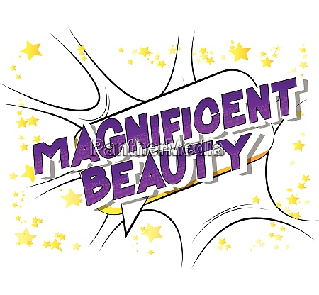 magnificent beauty vector illustrated comic