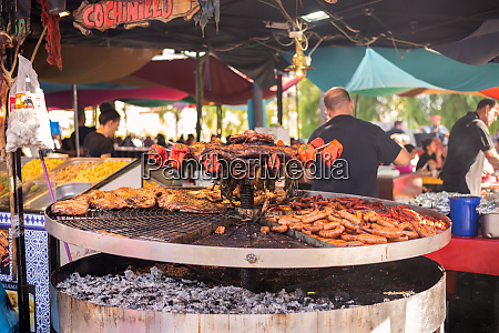 street food at the medieval market