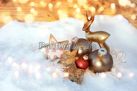 christmas decoration at wintertime