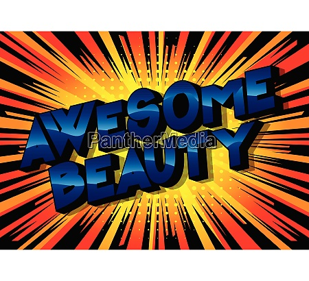 awesome, beauty, -, vector, illustrated, comic - 26095421