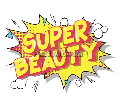 super, beauty, -, vector, illustrated, comic - 26095426