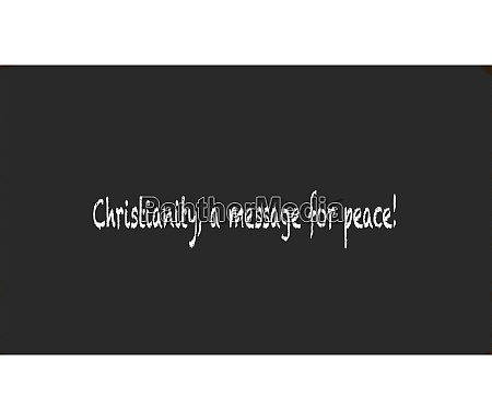 christianity a message for peace