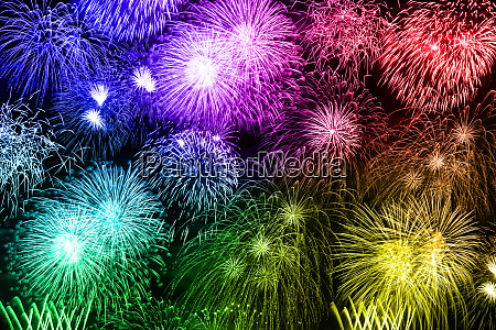 new years eve fireworks colorful background