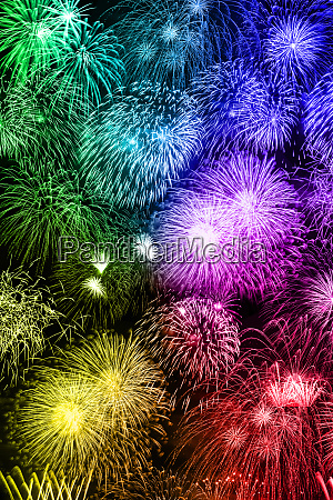 new years eve fireworks background portrait