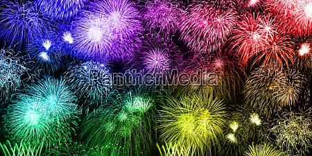 new years eve fireworks background colorful