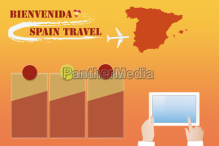 template vector travel to spain