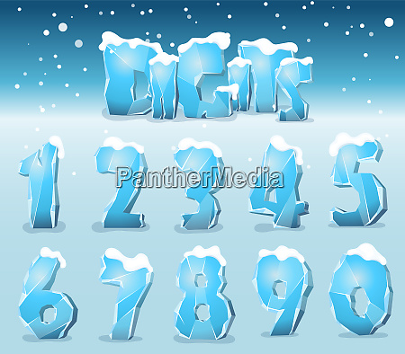 stylized ice digits
