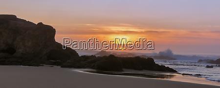panoramic sunset over pescadero state beach