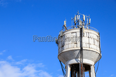 water depot with mobile phone masts