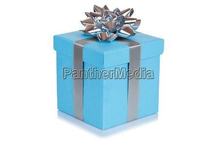 birthday gift christmas present blue box