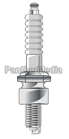 vector illustration spark plug from carvector