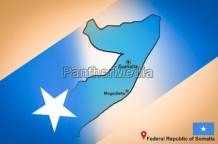somalia map and mogadishu with location