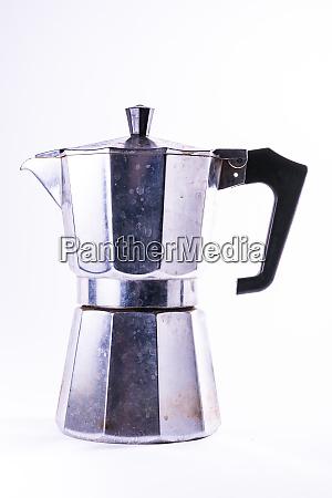 european metal coffee maker dirty household