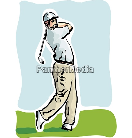illustration of a golfer on the