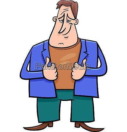 happy man cartoon comic character