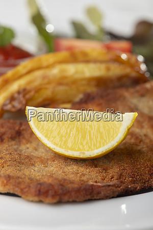 wiener schnitzel on a plate