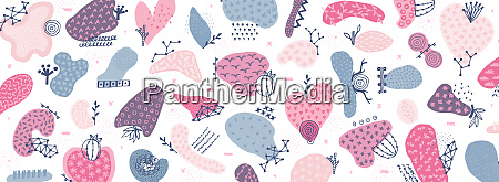 vector abstract creative background with hand