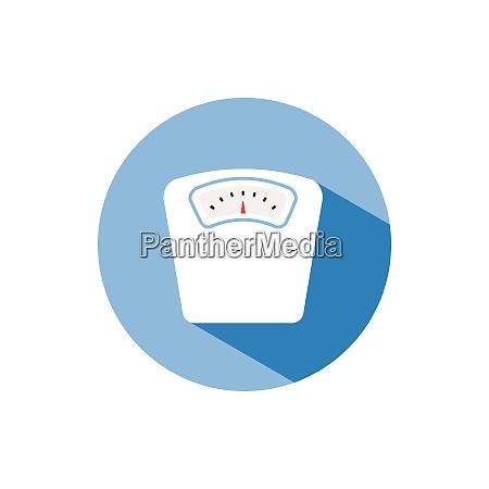 bathroom scale color icon with shadow