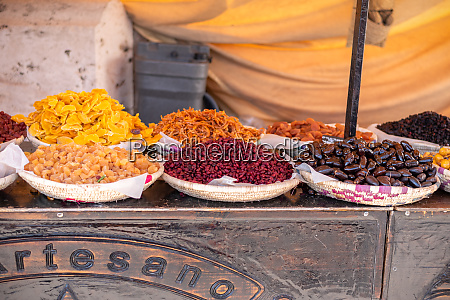 dried fruits at the medieval market