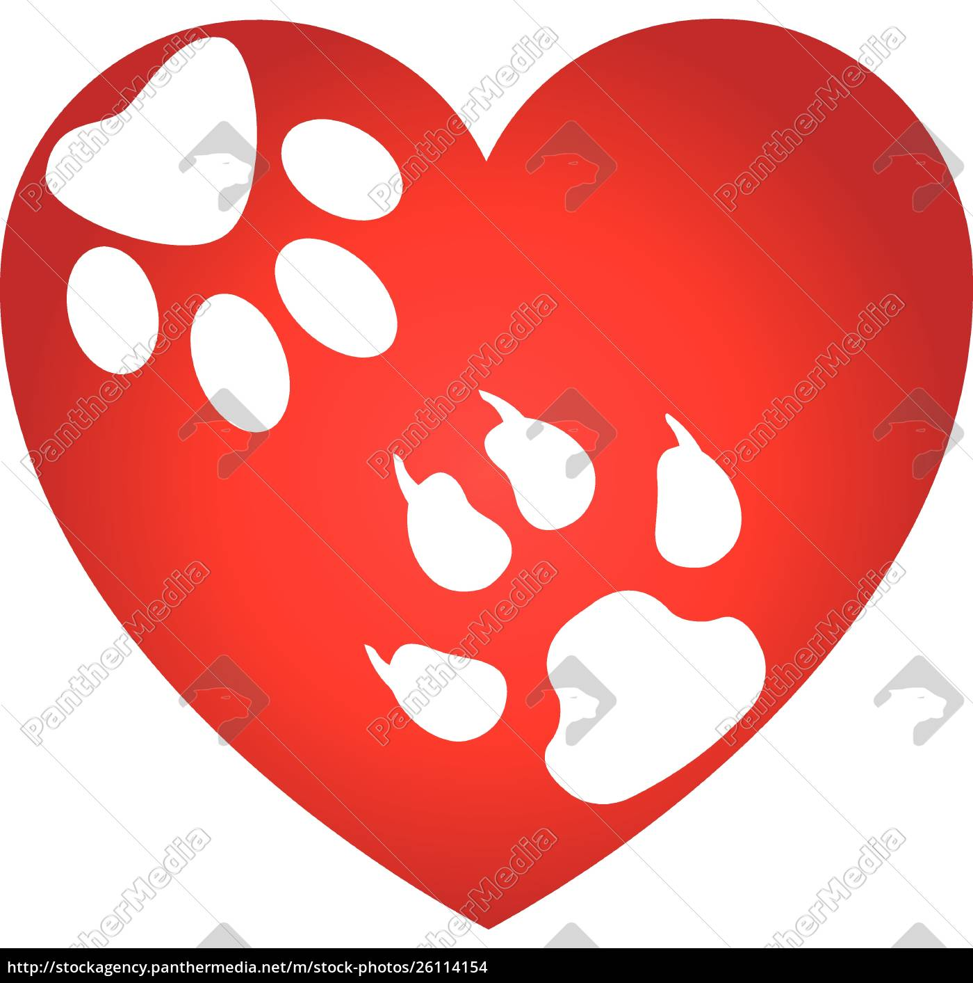 Heart Dog Paw Cat Paw Dog Cat Logo Royalty Free Image 26114154 Panthermedia Stock Agency