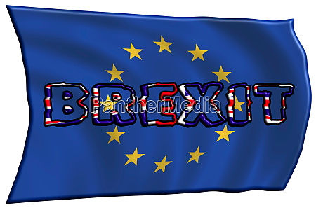 3d illustration concept brexit england and