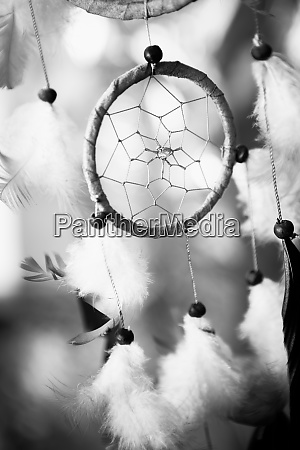 black and white photo dream catcher