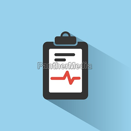 medical chart icon with shade on
