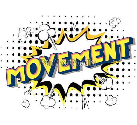 movement comic book style words