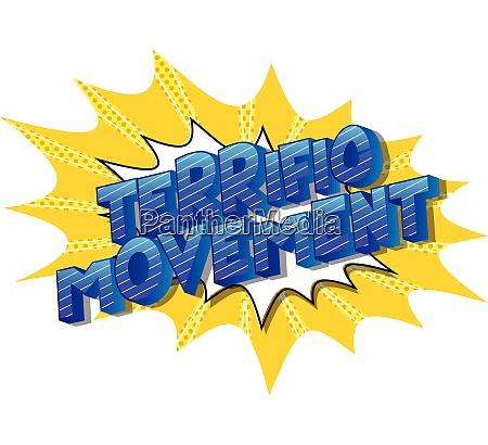 terrific movement comic book style