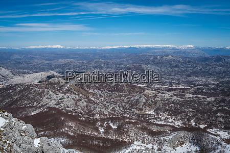 winter landscape of lovcen national