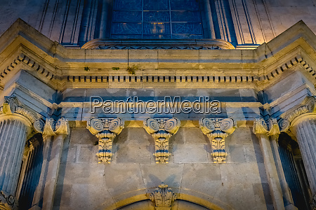 architectural detail of the basilica of