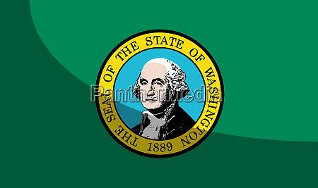 flag of washington state with shadow