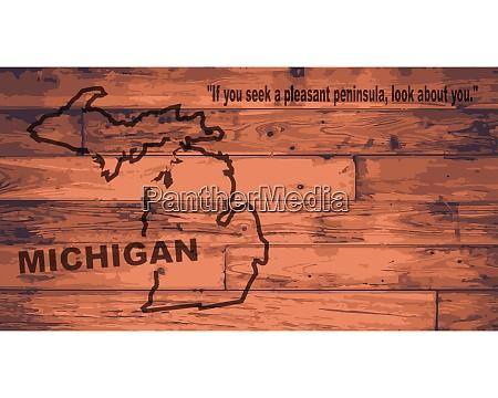 michigan map brand