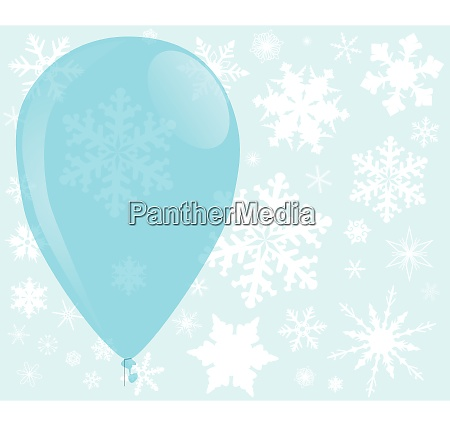 blue christmas balloon