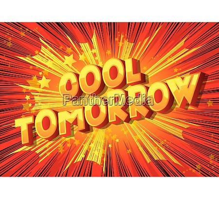 cool tomorrow comic book style