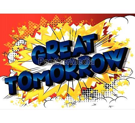 great tomorrow comic book style