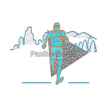 marathon runner memphis style