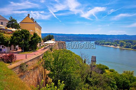 danube river landscape view from old