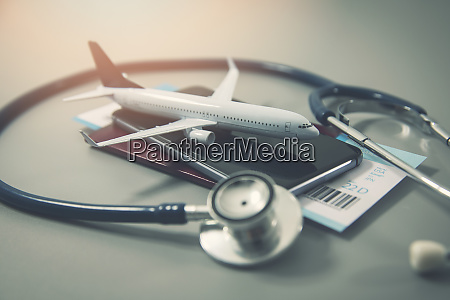 travel insurance safe trip concept