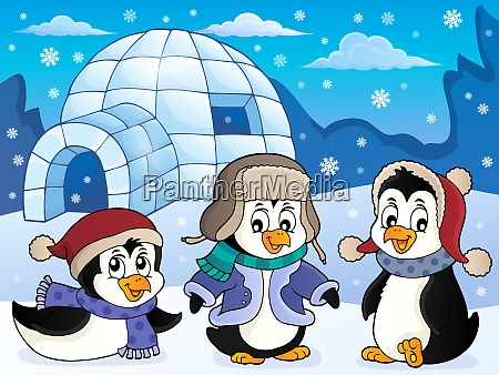 igloo with penguins theme 4