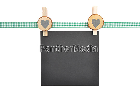 background with checkered ribbon and paper