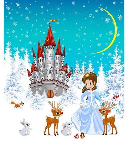 princess castle animals winter